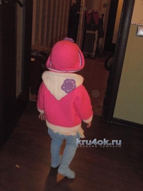 Кофточка и шапочка связанные крючком - работы Натальи Трусовой вязание и схемы вязания