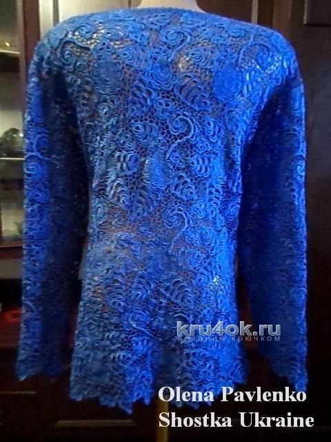 Кофточка Нежная синева - работа Елены Николаевны вязание и схемы вязания