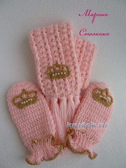 Комплект для девочки - работа Марины вязание и схемы вязания