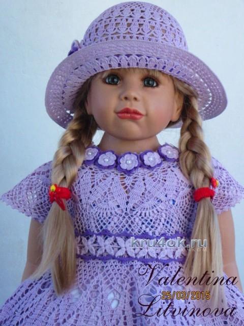 Комплект для девочки - работа Валентины Литвиновой вязание и схемы вязания