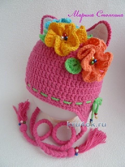 Комплект для девочки: шапка и шарф крючком вязание и схемы вязания