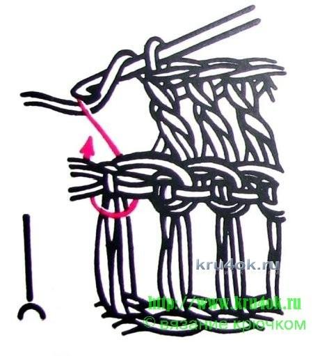 Манишка крючком - работа Татьяны вязание и схемы вязания