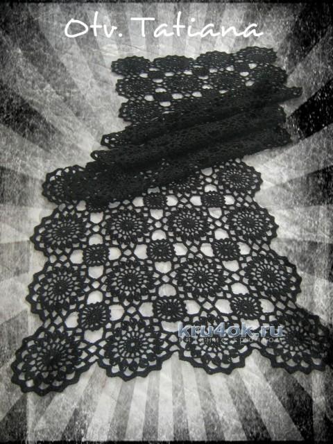 Палантин крючком - работа Отвеновской Татьяны вязание и схемы вязания