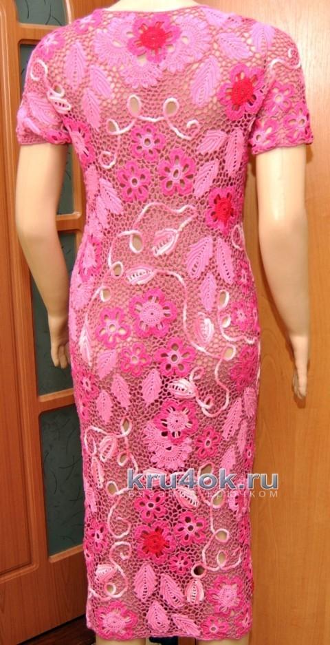 Платье Малиновое - работа Ефимии Андреевских вязание и схемы вязания