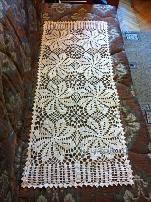 Салфетка - дорожка крючком. Работа Надежды вязание и схемы вязания