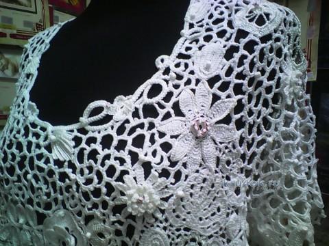 Туника в технике ирландского кружева - работа Анастасии вязание и схемы вязания