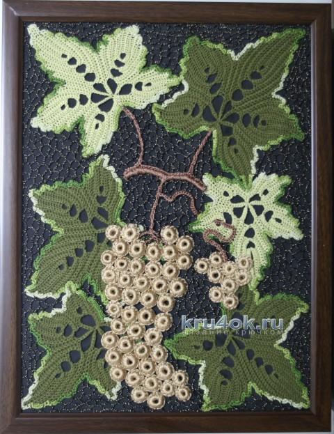 Вязаная крючком картина вязание и схемы вязания