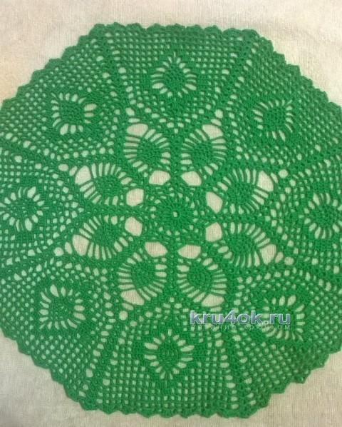 Вязаная крючком салфетка - работа Анжелики Романюк вязание и схемы вязания