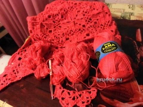 Вязаная крючком шаль - работа Надежды Лавровой вязание и схемы вязания