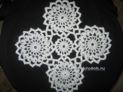 Вязаная крючком шаль - работа Отвеновской Татьяны вязание и схемы вязания