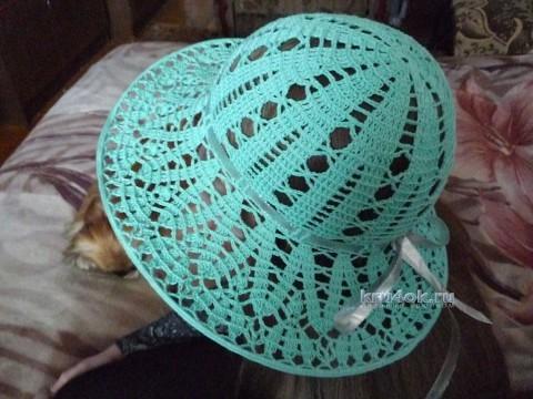 Вязаная крючком шляпа - работа Елены Антиповой вязание и схемы вязания