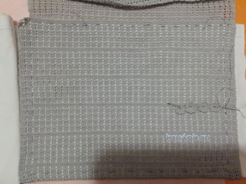 Вязаная крючком сумка - работа Оксаны Усмановой вязание и схемы вязания