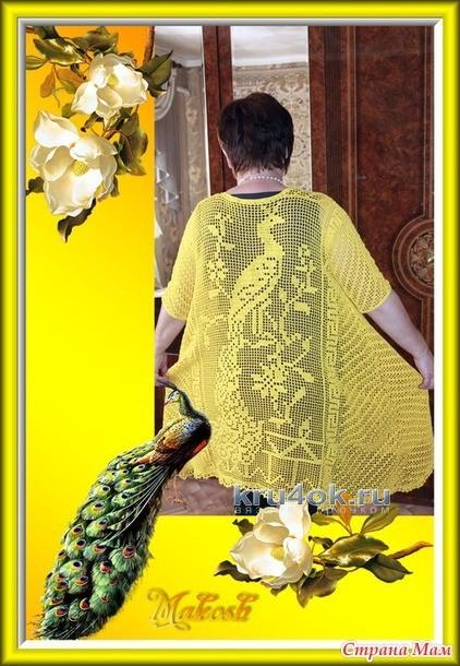 Вязаная крючком туника - работа Ирины Кангаш вязание и схемы вязания