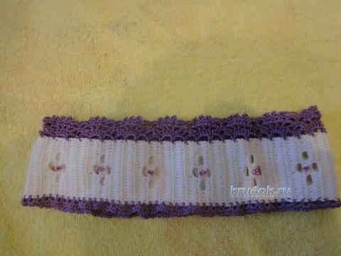 Вязаная повязка на голову - работа Елены Ворожко вязание и схемы вязания