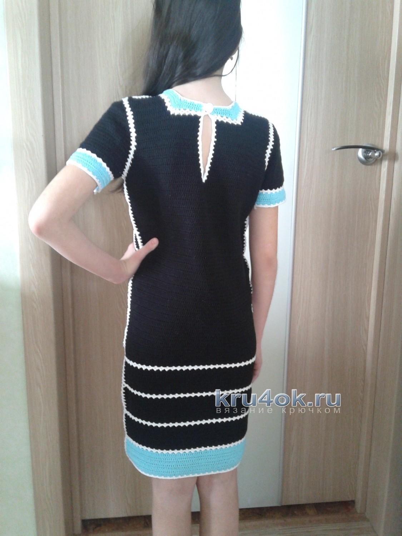 вязаное крючком крестильное платье схема