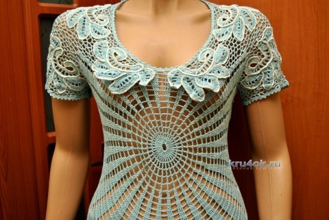 Вязаное платье Иней - работа Андреевских Ефимии вязание и схемы вязания