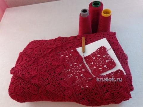 Вязаное покрывало из мотивов - работа Надежды Лавровой вязание и схемы вязания
