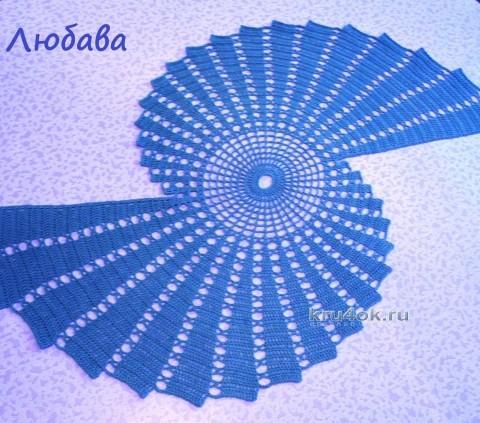 Вязаные крючком салфетки - работы Любавы вязание и схемы вязания