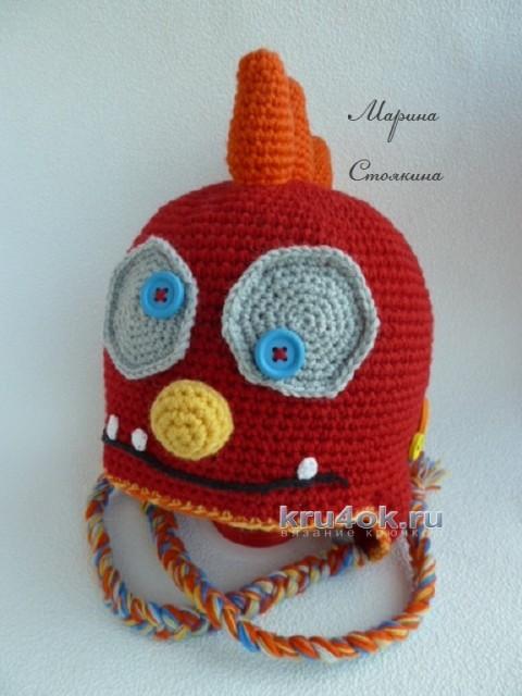 Вязаные крючком шапочки - монстрики вязание и схемы вязания