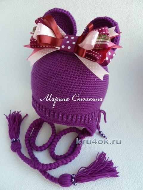 Вязаные крючком шапочки - работы Марины Стоякиной вязание и схемы вязания