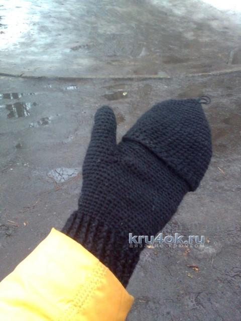 Вязаные крючком варежки - перчатки вязание и схемы вязания