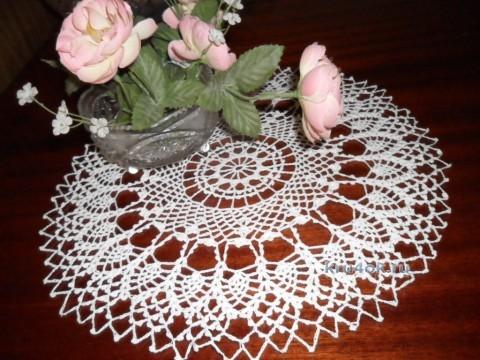 Вязаные салфетки - работы Альбины Петровны вязание и схемы вязания