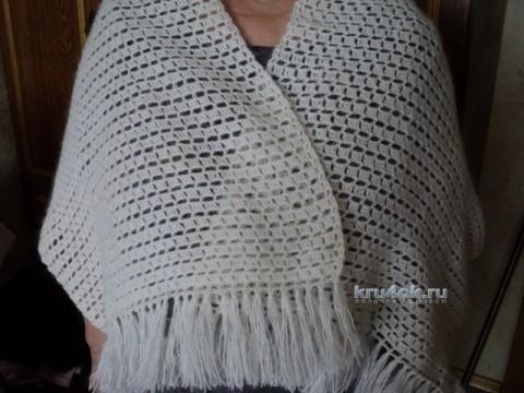 Вязаный крючком палантин - работа Светланы вязание и схемы вязания