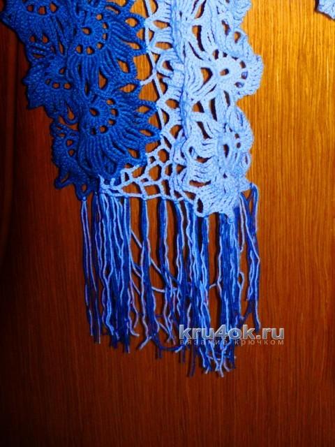 Вязаный крючком шарф - работа Татьяны вязание и схемы вязания