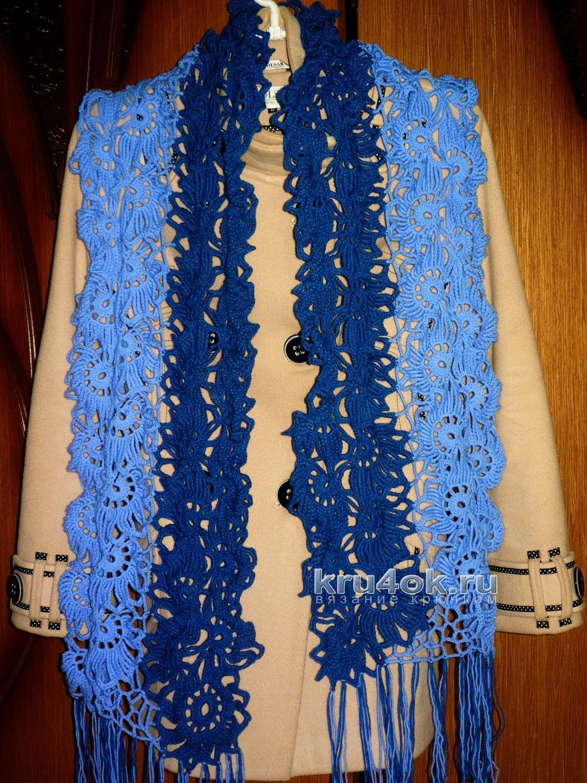 Вязаные ажурные шарфы со схемами фото 226