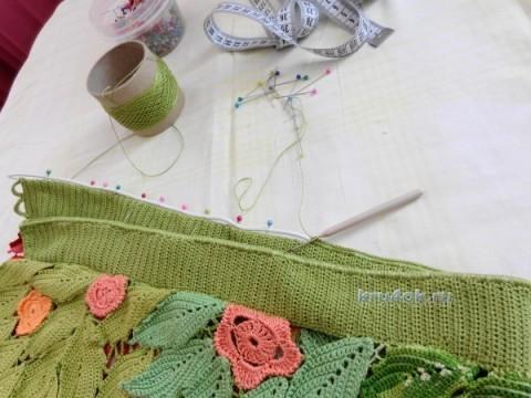 Юбка в технике ирландского кружева - работа Надежды Лавровой вязание и схемы вязания