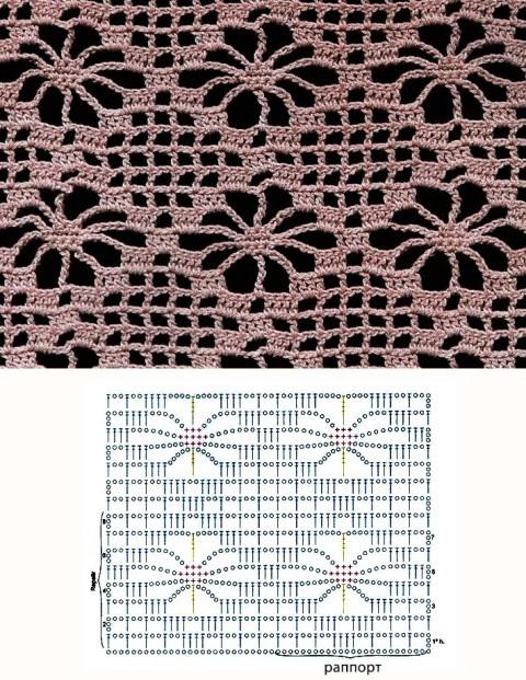 Схема вязания кардигана: