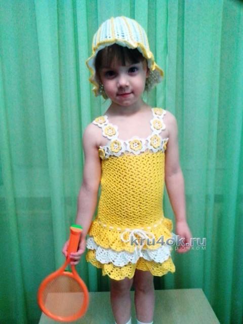 Сарафан и панамка для девочки - работа Дарьи