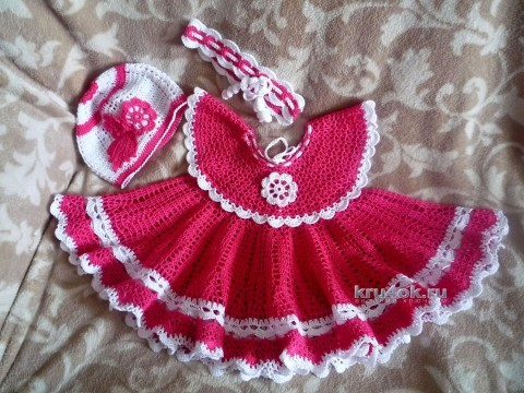 Детские платья крючком - работы Елены