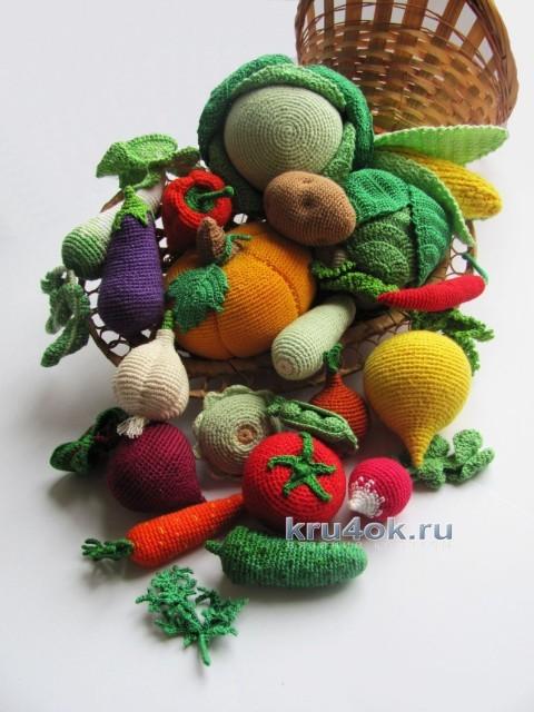 Овощи связаны крючком - работы Алены
