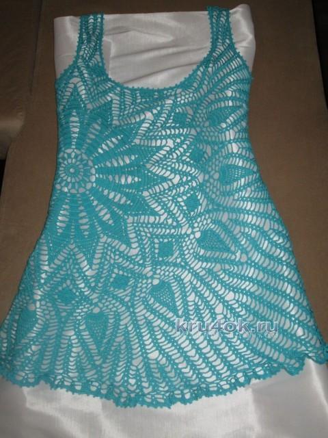 Вязаное крючком платье - работа Галины Любашовой