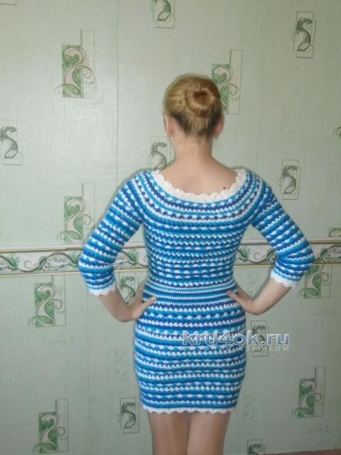 Вязаное крючком платье - работа Оксаны
