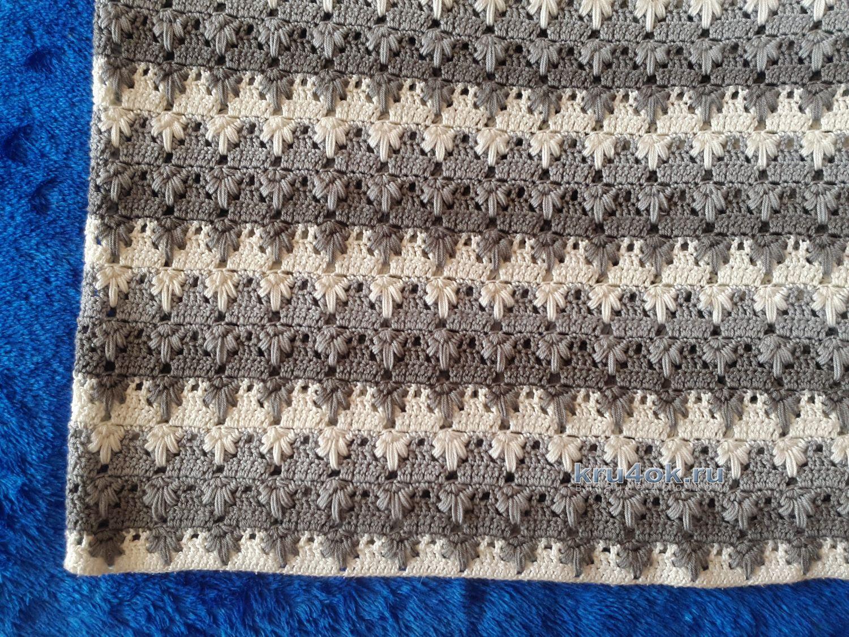 схема вязания пледа крючком из плюшевой пряжи