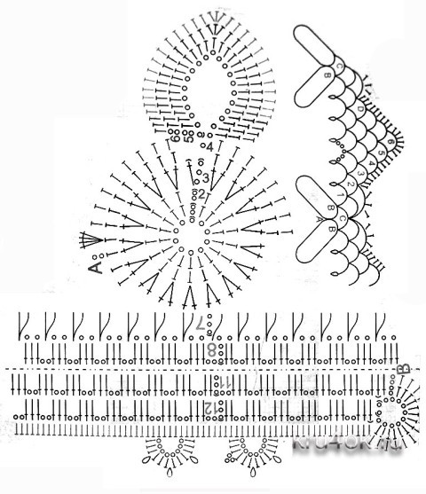 Схема вязания зайчиков: