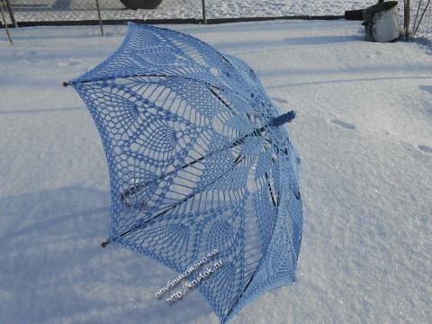 Ажурный зонт крючком