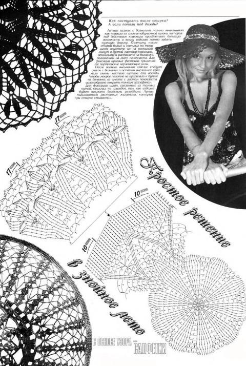 Схема вязания шляпы крючком: