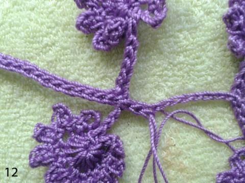 МК ирландское кружево вязание крючком