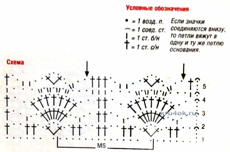 Вязания крючком схемы из ириса 90