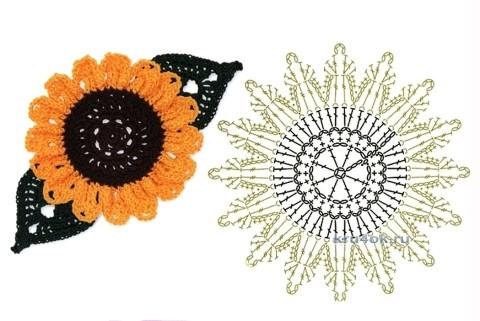 Схема цветов для шапочки: