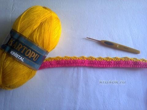 Детский кардиган крючком - работа Ирины Стильник вязание и схемы вязания