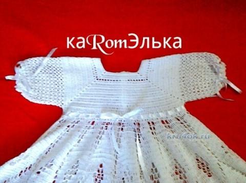 Детское платье крючком - работа кaRomЭлькa вязание и схемы вязания