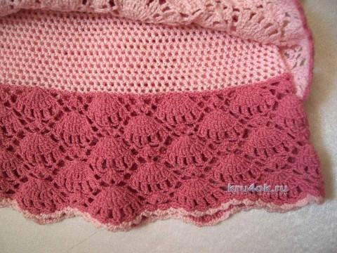 Детское платье крючком - работа Марии вязание и схемы вязания