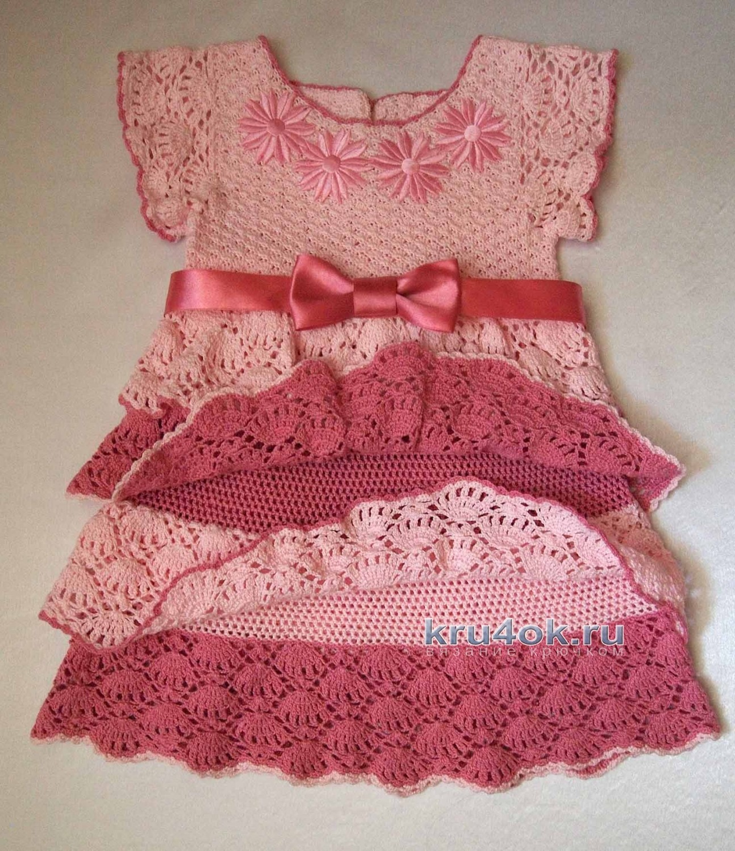 Красивые детские платье схема крючком схема