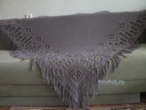 Две шали крючком - работы Любови вязание и схемы вязания