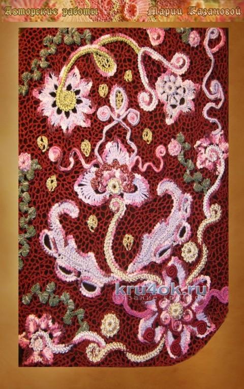 Кардиган в технике ирландского кружева - работа Марии  Казановой вязание и схемы вязания