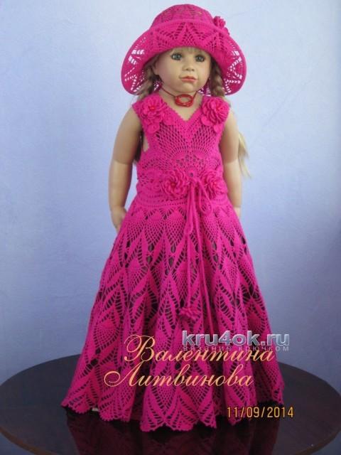 Комплект для девочки крючком - работа Валентины Литвиновой вязание и схемы вязания